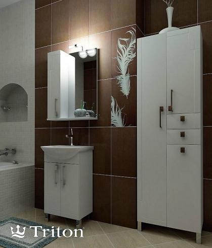 купить пенал для ванной комнаты Тритон