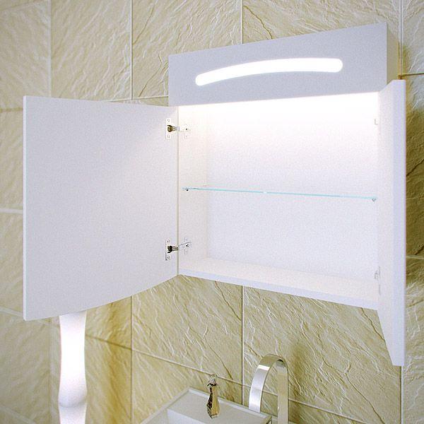 Зеркальный шкаф с подсветкой Aqwella