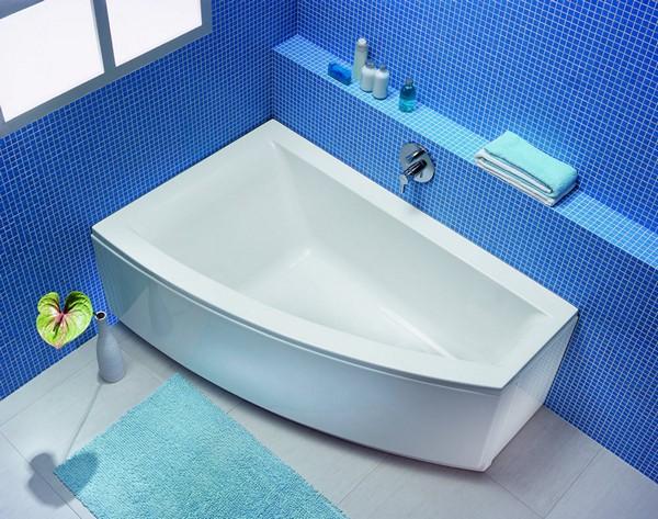 акриловые ассиметричные ванны 150