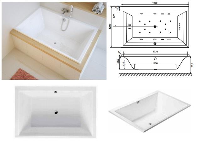 Акриловая ванна Crown Lux Excellent