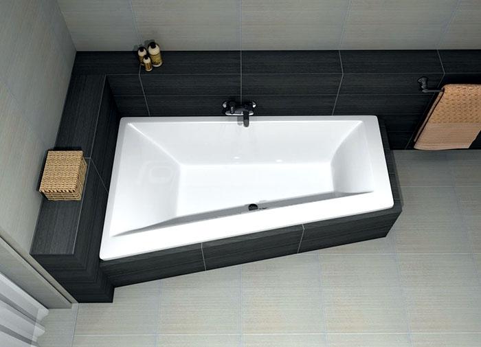 Асимметричная акриловая ванна Excellent Sfera 170