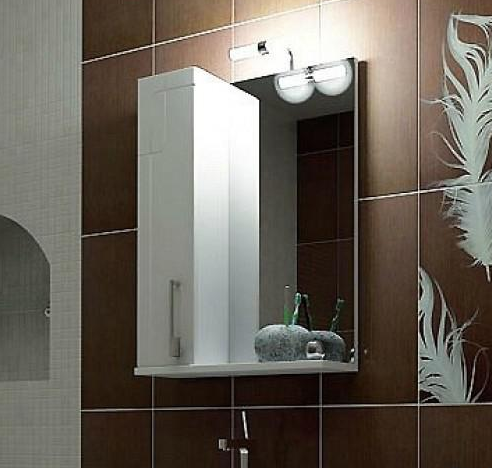 купить зеркальный шкаф для ванной комнаты Тритон
