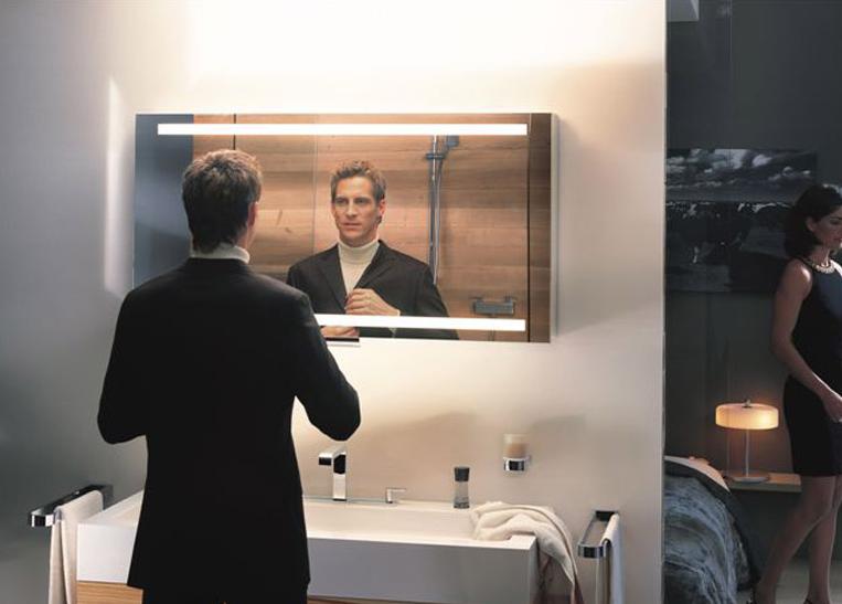 купить зеркальный шкаф для ванной