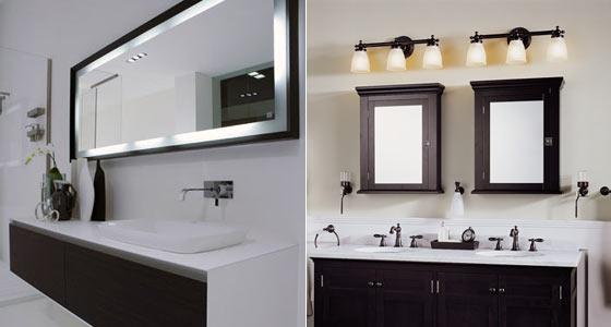прямоугольные и овальные зеркала для ванной комнаты