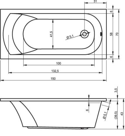 схема RIHO miami 150x70