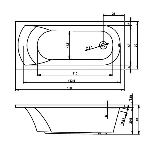 схема RIHO miami 160x70