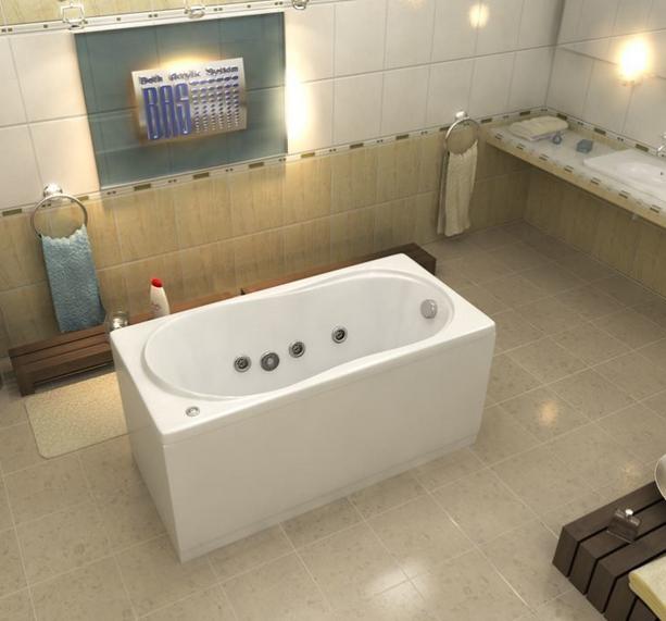 Акриловая ванна BAS Лима 130х70
