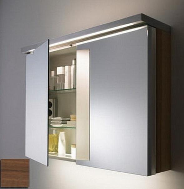 современный зеркальный шкаф для ванной
