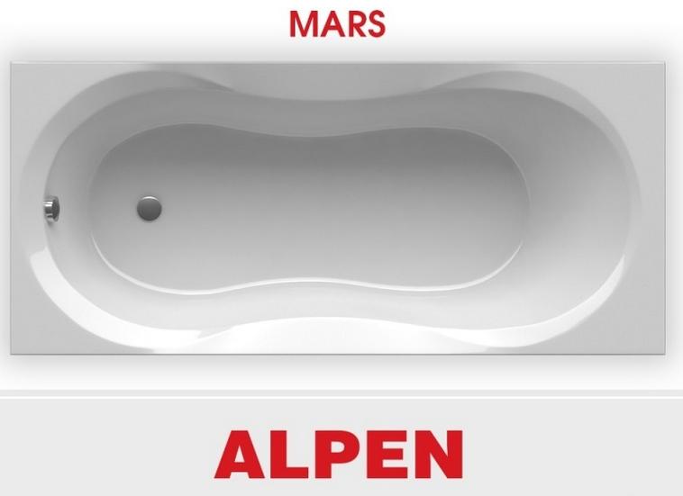Акриловая ванна ALPEN Mars 140x70