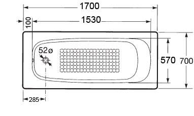 схема Roca Continental 170х70