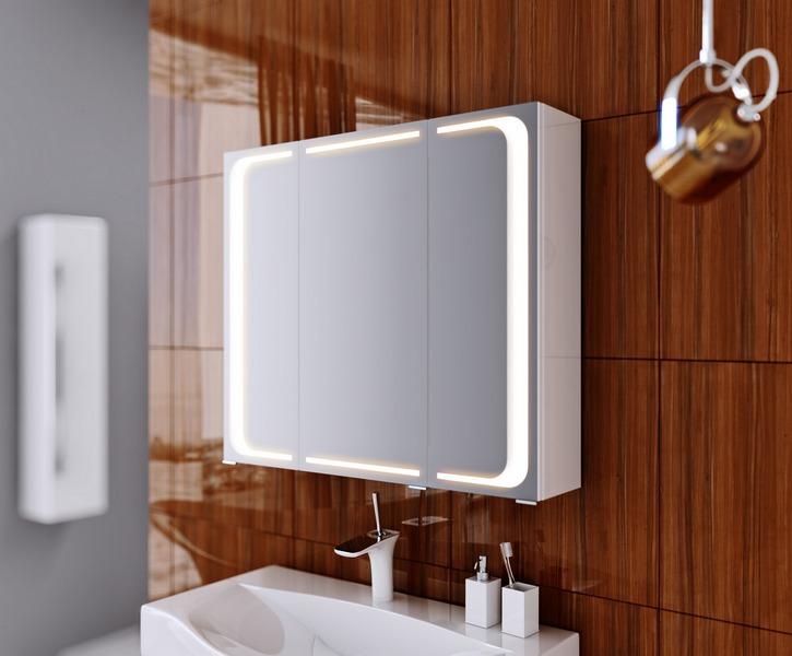 шкаф зеркальный в ванную комнату